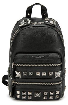 Кожаный рюкзак Recruit с металлическими шипами   Фото №1