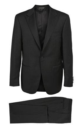 Мужской шерстяной смокинг с остроконечными лацканами CANALI черного цвета, арт. BF00795/13780/39 | Фото 1