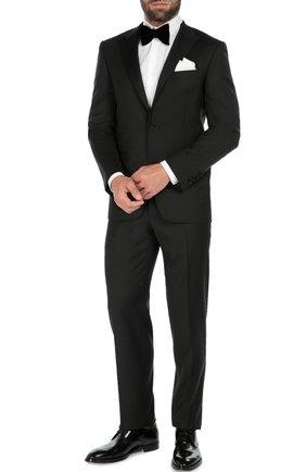Мужской шерстяной смокинг с остроконечными лацканами CANALI черного цвета, арт. BF00795/13780/39 | Фото 2
