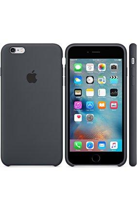 Мужской силиконовый чехол для iphone 6/6s plus APPLE темно-серого цвета, арт. MKXJ2ZM/A | Фото 1
