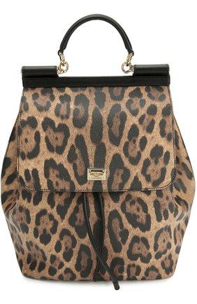 Рюкзак Sicily с леопардовым принтом Dolce & Gabbana леопардовый | Фото №1