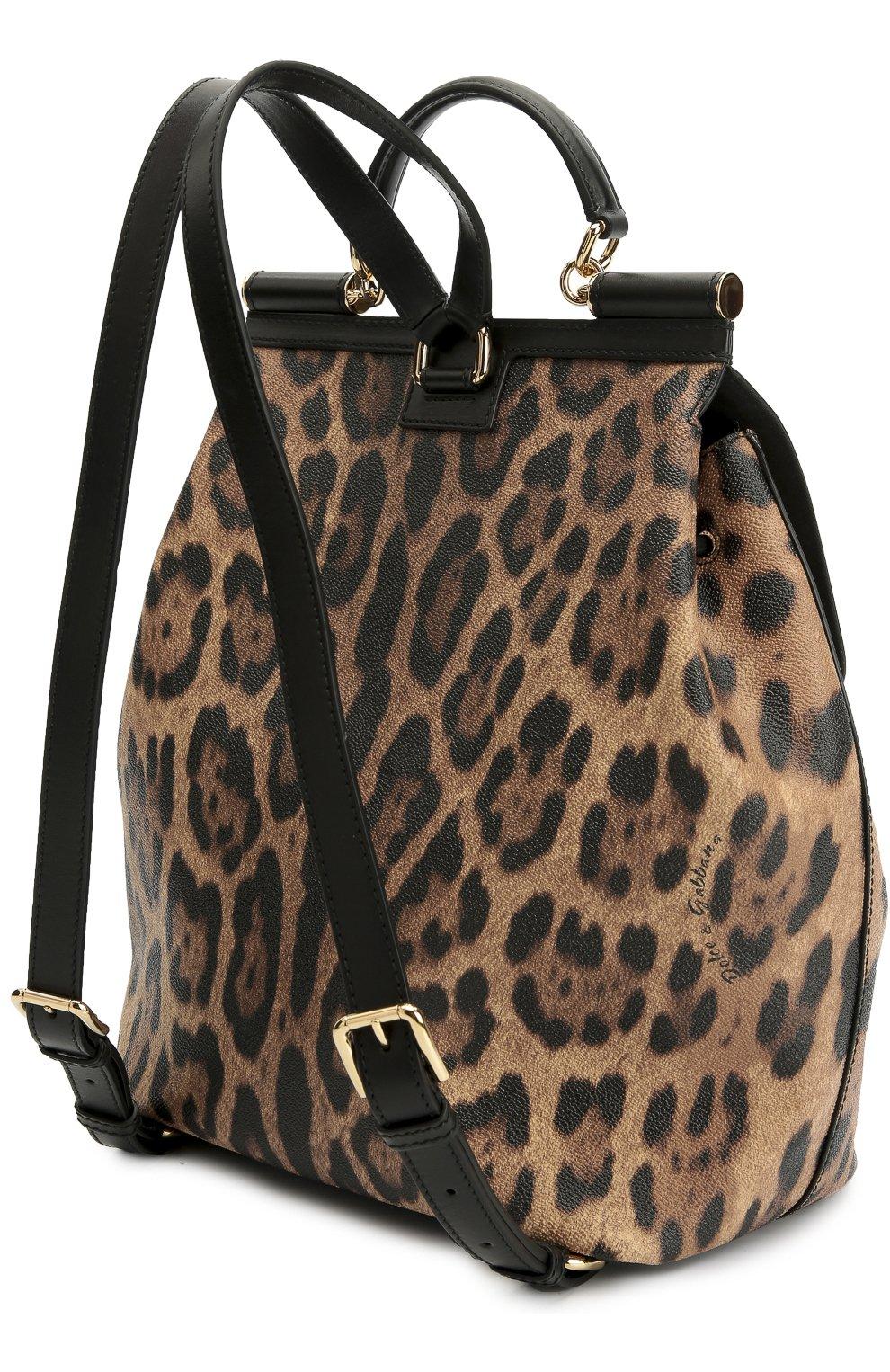 Рюкзак Sicily с леопардовым принтом Dolce & Gabbana леопардовый | Фото №3
