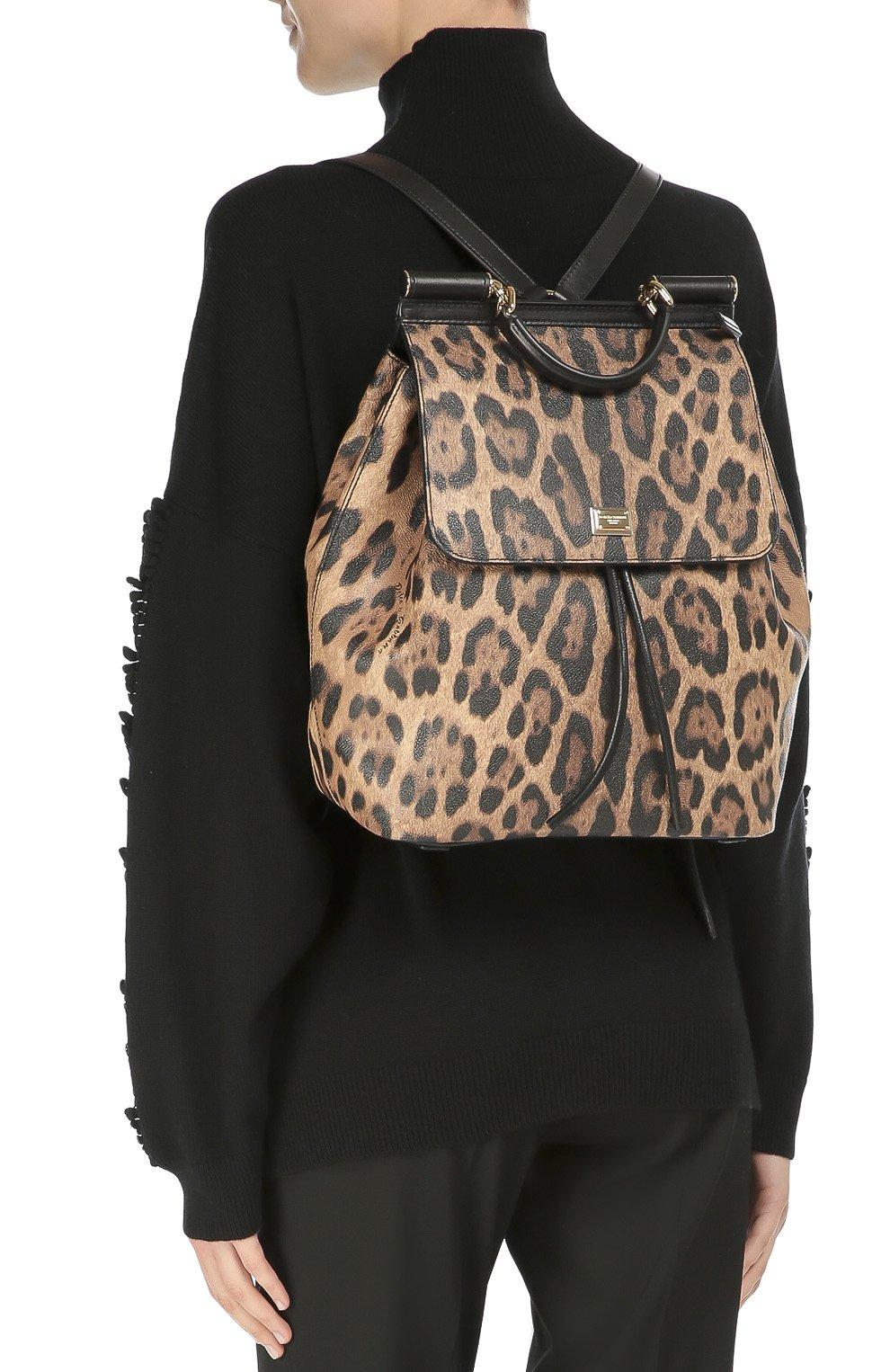 Рюкзак Sicily с леопардовым принтом Dolce & Gabbana леопардовый | Фото №5