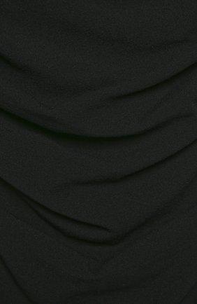 Шерстяное приталенное платье с открытыми плечами Dolce & Gabbana черное   Фото №5