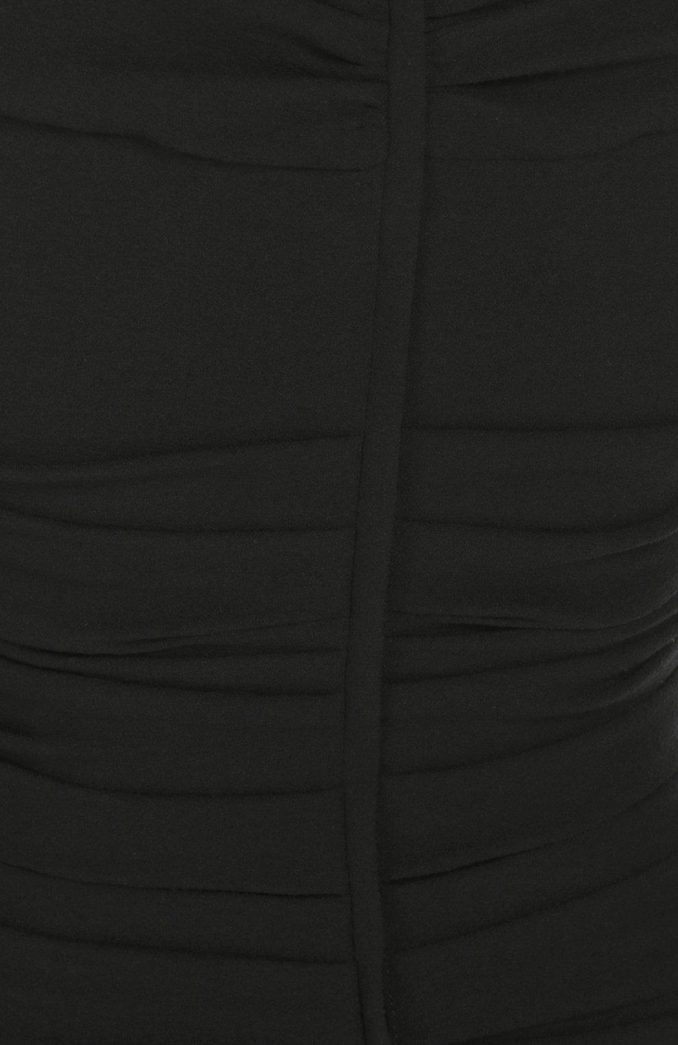 Облегающее платье-миди с открытыми плечами Dolce & Gabbana черное | Фото №5