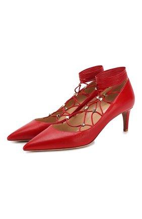 Кожаные туфли Valentino Garavani Rockstud Gladiator | Фото №1