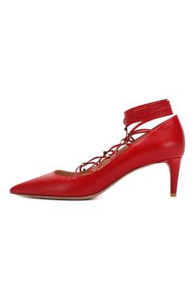Кожаные туфли Valentino Garavani Rockstud Gladiator | Фото №2