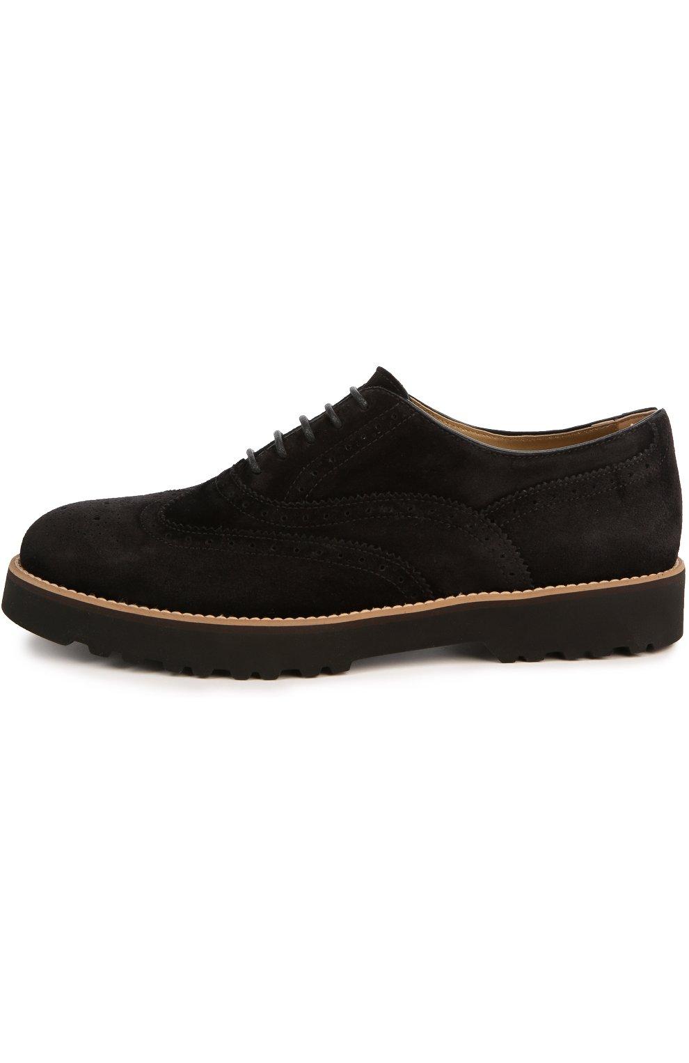 Замшевые ботинки с перфорацией | Фото №1