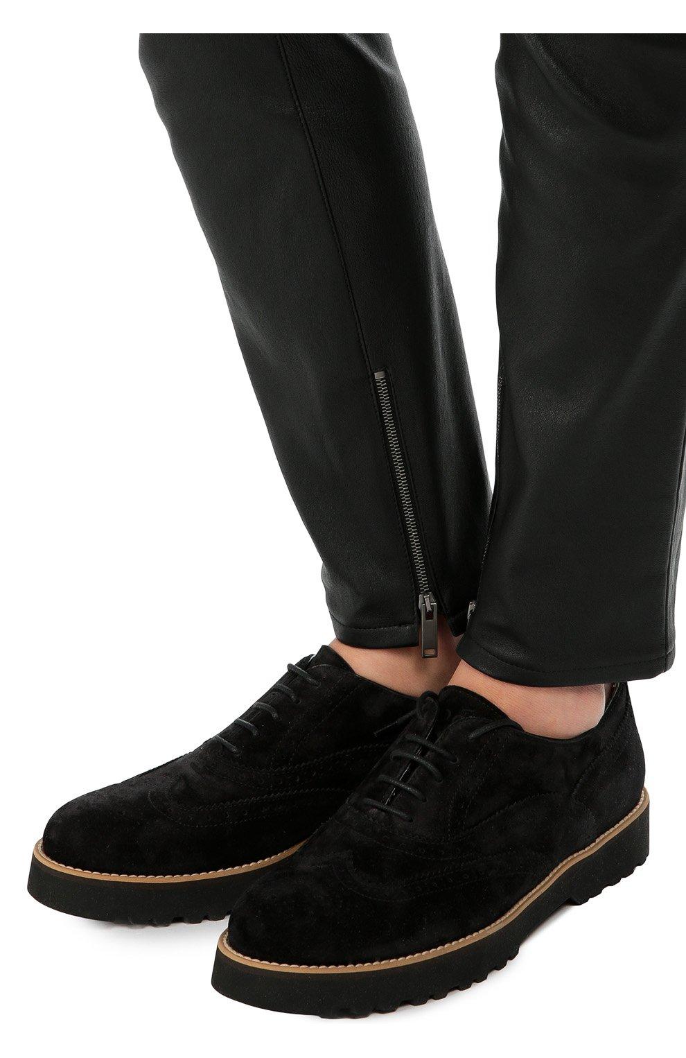 Замшевые ботинки с перфорацией | Фото №2