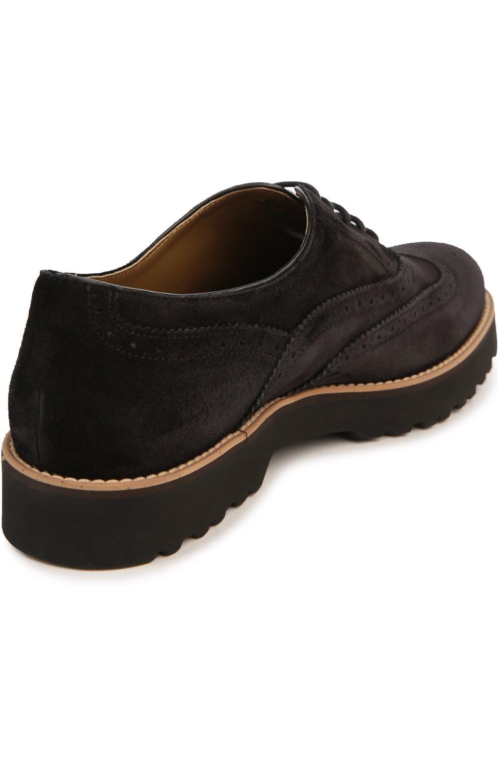 Замшевые ботинки с перфорацией | Фото №4
