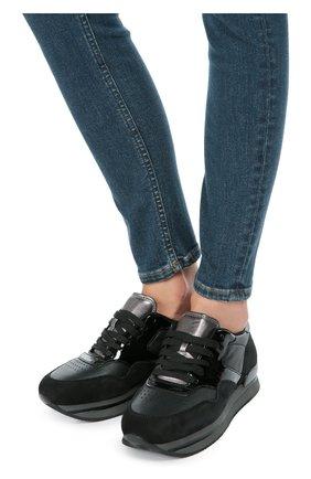 Комбинированные кроссовки на шнуровке   Фото №2