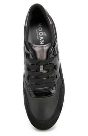 Комбинированные кроссовки на шнуровке   Фото №5