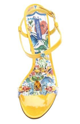 Босоножки Keira с принтом Majolica Dolce & Gabbana разноцветные   Фото №5