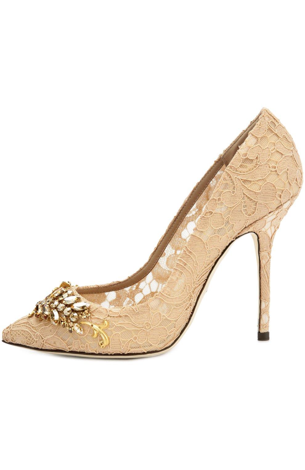 Кружевные туфли Belucci с декором | Фото №1