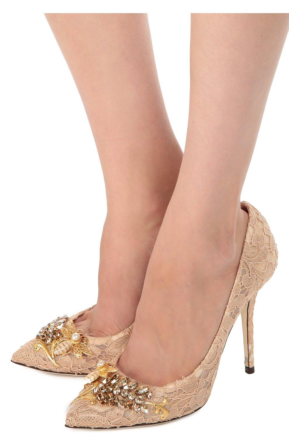 Кружевные туфли Belucci с декором | Фото №2