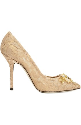 Кружевные туфли Belucci с декором | Фото №4