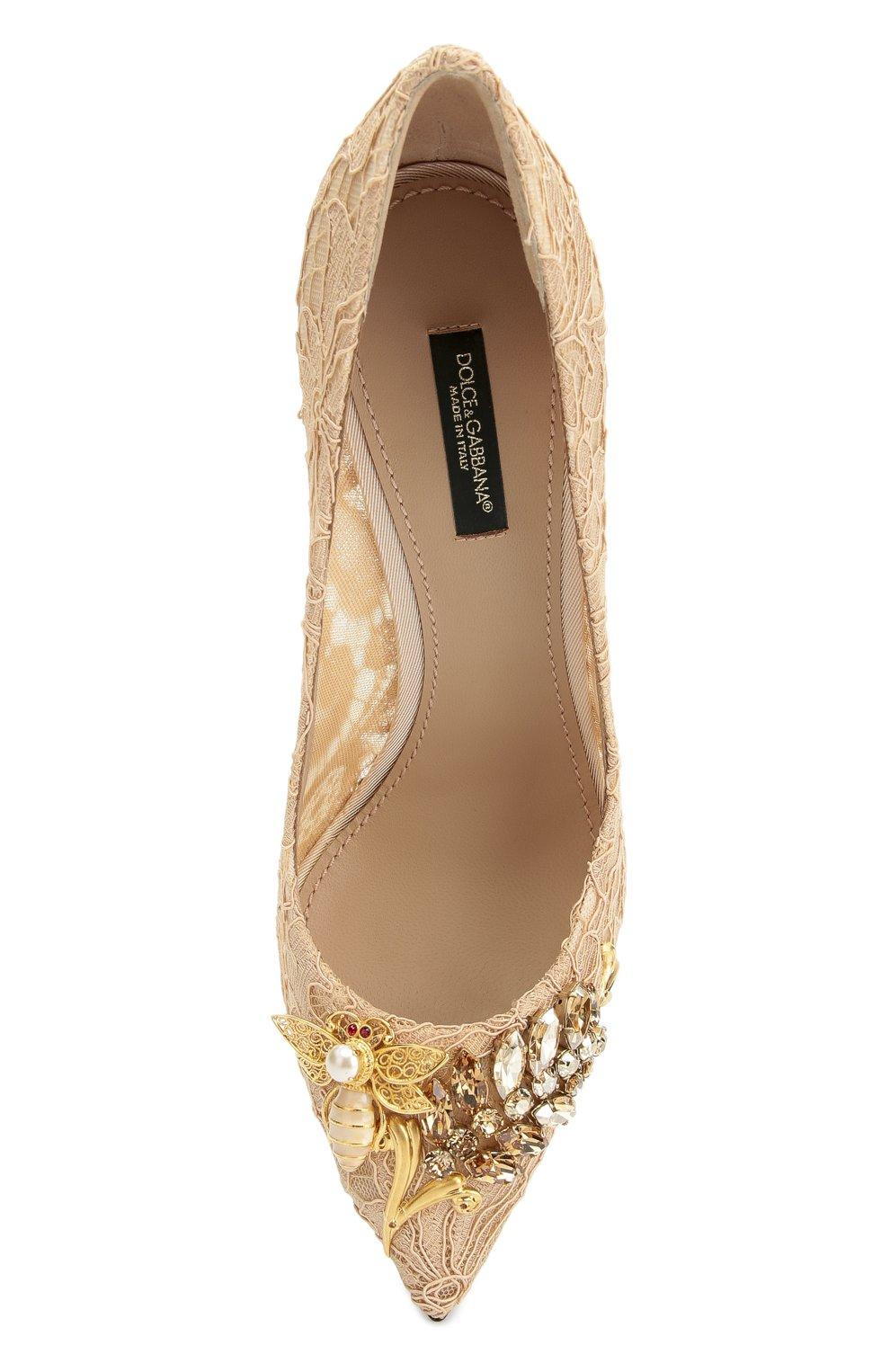 Кружевные туфли Belucci с декором | Фото №5