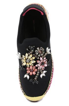 Текстильные кроссовки с декором | Фото №5