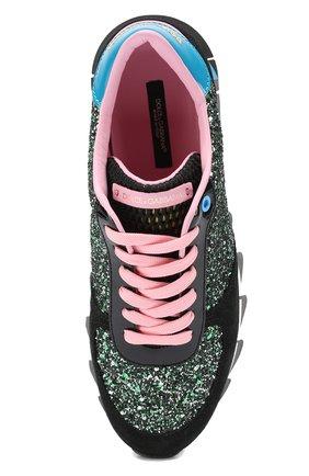 Комбинированные кроссовки Capri с глиттером   Фото №5