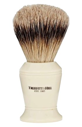 Кисть для бритья, Ворс серебристого барсука / Слоновая кость с серебром / Carlton | Фото №1