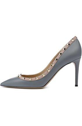 Кожаные туфли Valentino Garavani Rockstud на шпильке   Фото №1