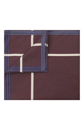 Мужской хлопковый платок SIMONNOT-GODARD фиолетового цвета, арт. S0C0TRA | Фото 1 (Материал: Текстиль, Хлопок)