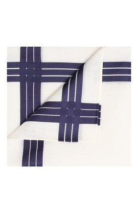 Мужской хлопковый платок SIMONNOT-GODARD белого цвета, арт. ADELIE | Фото 1