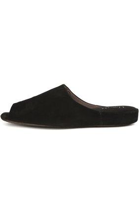 Замшевые домашние туфли с открытым мысом | Фото №1