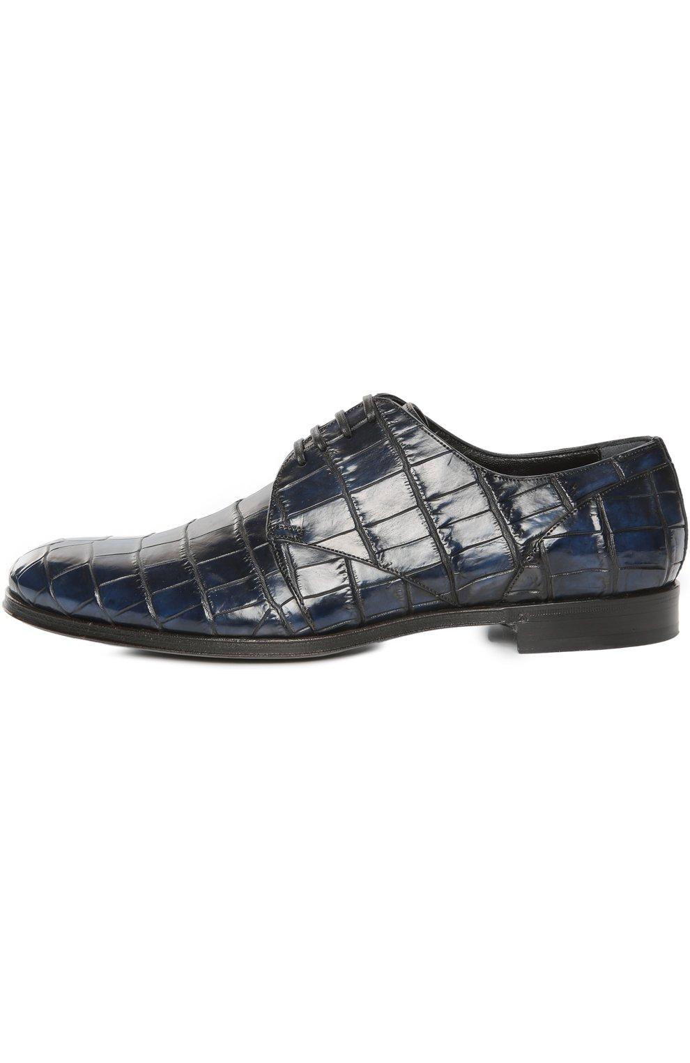 Туфли из кожи крокодила с набором аксессуаров | Фото №1
