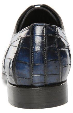 Туфли из кожи крокодила с набором аксессуаров Dolce & Gabbana синие | Фото №3