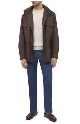 Мужские кожаные мокасины TOD'S коричневого цвета, арт. XXM0LR00011D9C | Фото 2