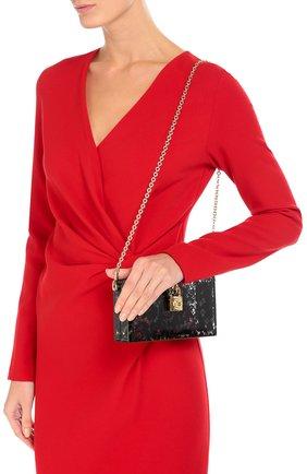 Клатч Dolce Box с кружевом Dolce & Gabbana черного цвета | Фото №5