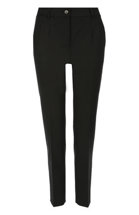 Укороченные брюки прямого кроя с карманами Dolce & Gabbana черные | Фото №1