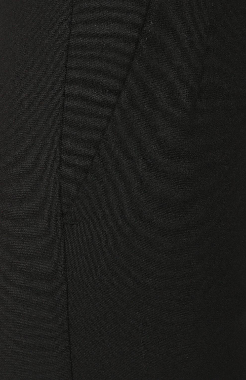 Укороченные брюки прямого кроя с карманами Dolce & Gabbana черные | Фото №5