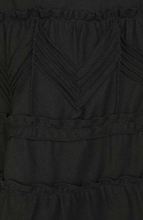 Двубортный плащ с поясом и декоративной отделкой REDVALENTINO черного цвета   Фото №5