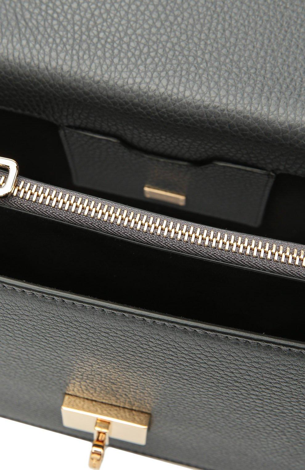 Сумка Rosalia на цепочке Dolce & Gabbana темно-серая цвета | Фото №4