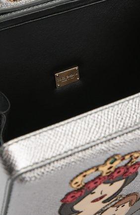 Сумка Dolce Box с аппликацией DG Family Dolce & Gabbana серебряного цвета | Фото №4