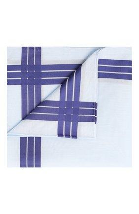 Мужской хлопковый платок SIMONNOT-GODARD голубого цвета, арт. ADELIE | Фото 1