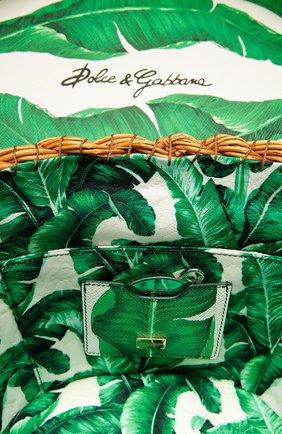 Плетеная сумка с отделкой из кожи с принтом | Фото №4
