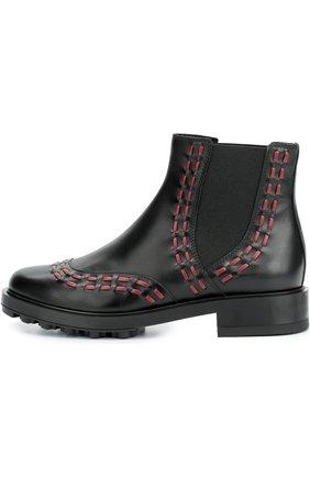 Кожаные ботинки с декором   Фото №1