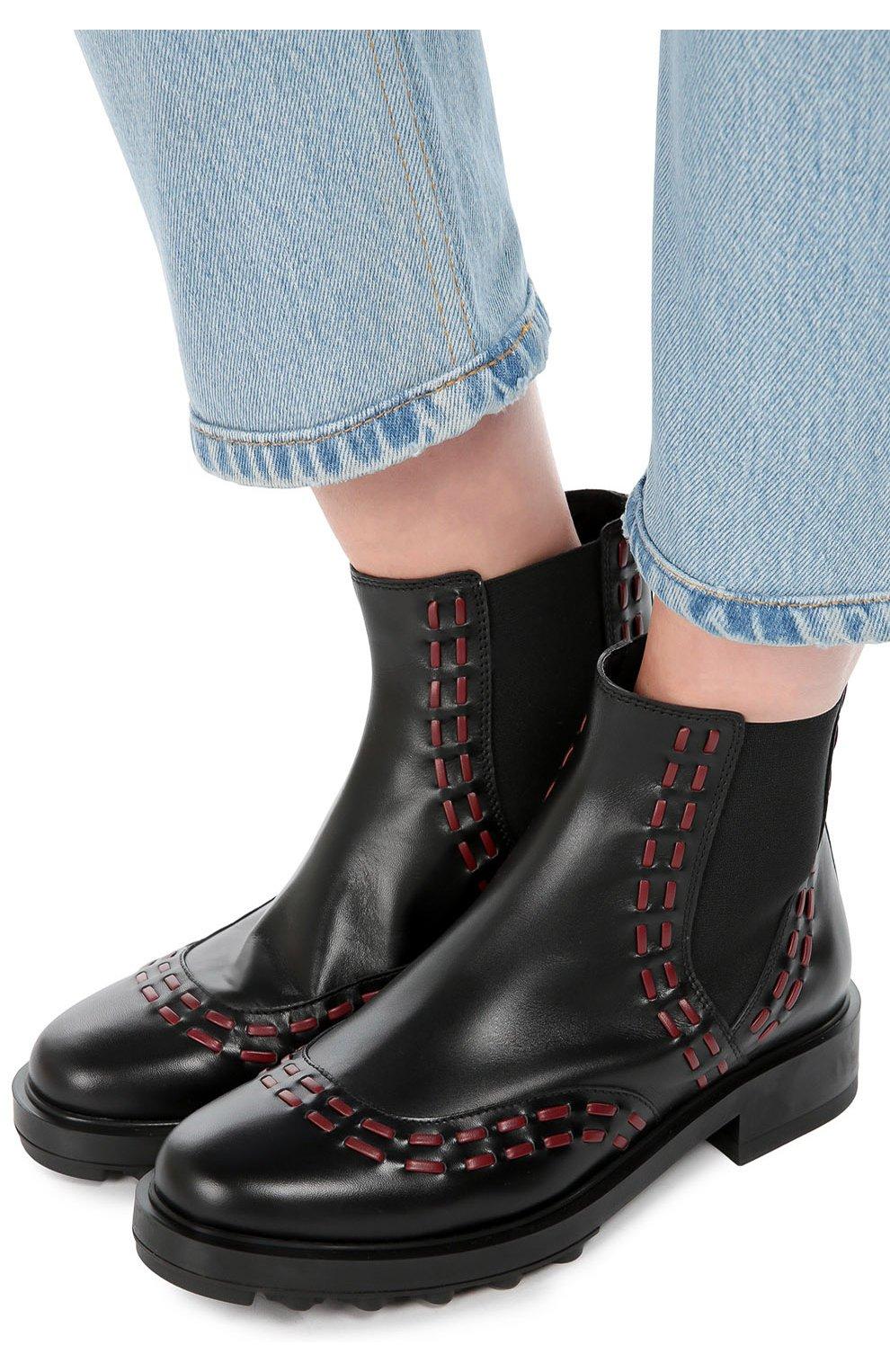 Кожаные ботинки с декором   Фото №2