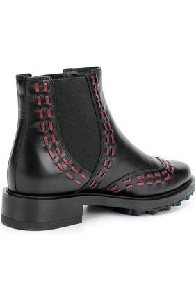 Кожаные ботинки с декором   Фото №4