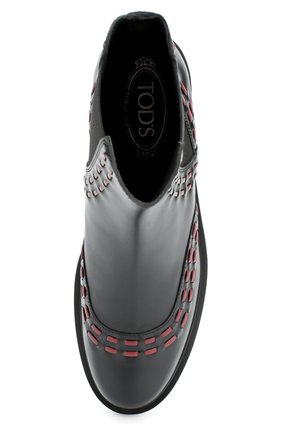 Кожаные ботинки с декором   Фото №5