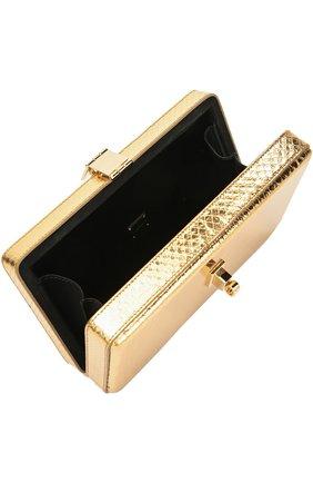 Клатч Dolce Box из металлизированной кожи питона Dolce & Gabbana золотого цвета | Фото №4