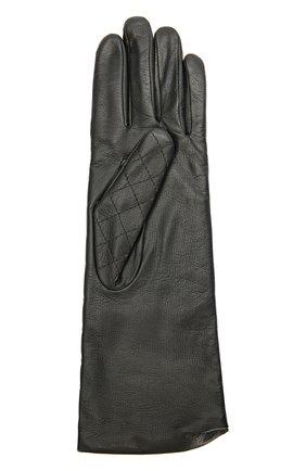 Кожаные перчатки с прострочкой | Фото №2