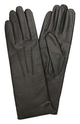 Кожаные перчатки с подкладкой из шерсти | Фото №1