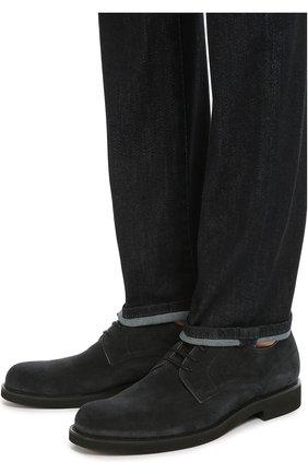 Замшевые дерби на шнуровке | Фото №2