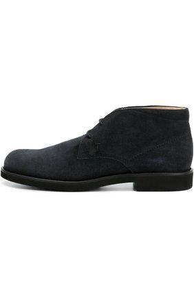 Замшевые ботинки Gomma Tod's темно-синие | Фото №1