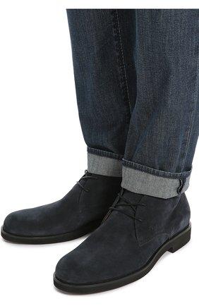 Замшевые ботинки Gomma Tod's темно-синие | Фото №2