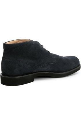 Замшевые ботинки Gomma Tod's темно-синие | Фото №4